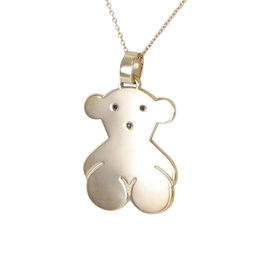 Tous 18K Pink Gold & 925 Sterling Silver Spinels Sweet Dolls Pendant Chain Necklace