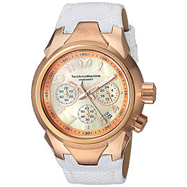 Technomarine Sea TM-715036 Rose Gold Stainless Steel & Leather Strap Quartz 42mm Womens Watch