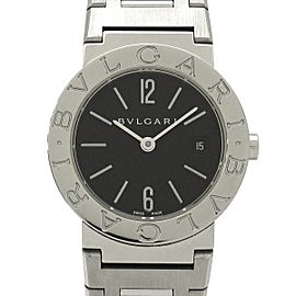 Bulgari Bvlgari BB26SS Stainless Steel Black Quartz 26mm Womens Watch