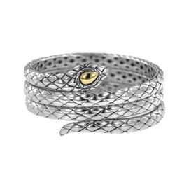 John Hardy 925 Sterling Silver & 18K Yellow Gold Legends Cobra Triple Coil Bracelet