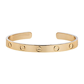 Cartier Love 18K Rose Gold Cuff Bracelet Size 16