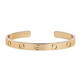 Cartier Love 18K Rose Gold Cuff Bracelet Size 16