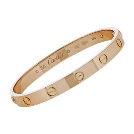 Cartier Love 18K Rose Gold Bracelet Size 16