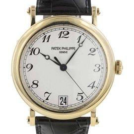 Patek Philippe 5053 Calatrava Hunter 18k Yellow Gold Automatic Unisex 35mm Watch