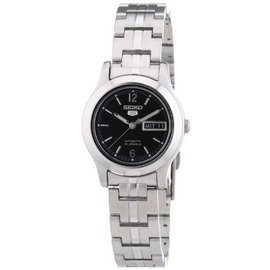 Seiko SYMD99K1 Stainless Steel with Black Dial Automatic 25mm Womens Watch