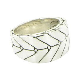 John Hardy 925 Sterling Silver Modern Chain Ring Size 10