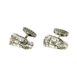 John Hardy Legends 925 Sterling Silver Naga Dragon Head Cufflinks