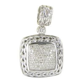 John Hardy Classic Chain Sterling Silver 0.85ct. Diamond Pendant