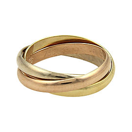 Cartier Trinity 18K Tri-Color Gold Rolling Band Ring Size 5