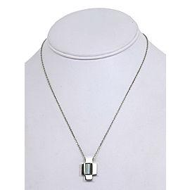 Gucci 18K White Gold 2.50ct Blue Topaz Fancy Cross Pendant Necklace