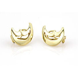 Tiffany & Co. Paloma Picasso 18K Yellow Gold Moon Earrings