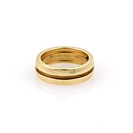 Tiffany & Co. 18K Yellow Gold Atlas Band Ring Size 5
