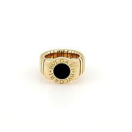 Bulgari 18K Yellow Gold Tubogas Onyx Ring Size 5