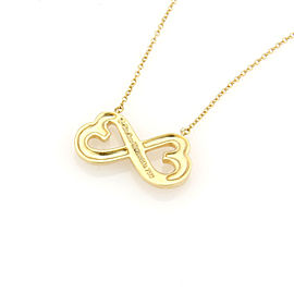 Tiffany & Co. Paloma Picasso 18K Yellow Gold Loving Heart Pendant Necklace