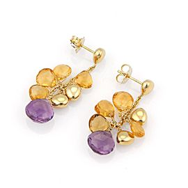 Marco Bicego 18K Yellow Gold with Amethyst & Citrine Paradise Drop Earrings