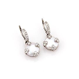 Judith Ripka 18K White Gold Coin Pearl & Diamond Drop Earrings