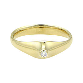 Tiffany & Co. Elsa Peretti 18K Yellow Gold with 0.03ct Diamond Pointed Top Ring Size 4.5