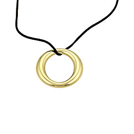 Tiffany & Co. Elsa Peretti 18K Yellow Gold with Black Silk Cord Sevillana Necklace