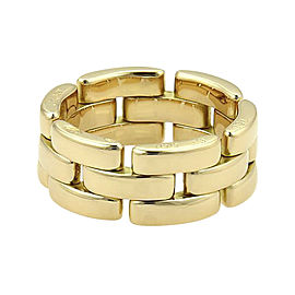 Cartier 18K Yellow Gold Maillon Panthere Flex Band Ring Size 5.25
