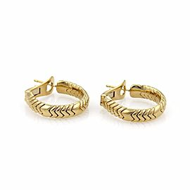Bulgari Spiga 18K Yellow Gold Hoop Earrings