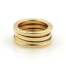 Bulgari B Zero-1 18K Yellow Gold Band Ring Size 4.25