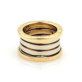 Bulgari Bvlgari B Zero-1 18K White and Yellow Gold Band Ring Size 3.75