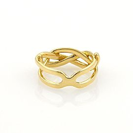 Tiffany & Co. Vintage 18K Yellow Gold Infinity Band Ring Size 4.5