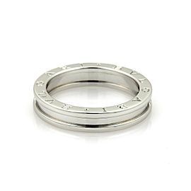 Bulgari B Zero-1 18K White Gold Band Ring Size 8