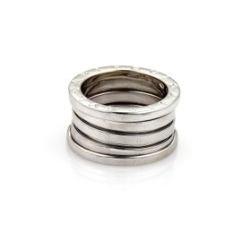 Bulgari B Zero-1 18K White Gold Band Ring Size 7.75