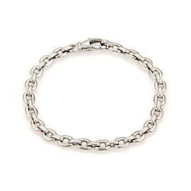 Cartier 18K White Gold Oval Flat Link Chain Bracelet
