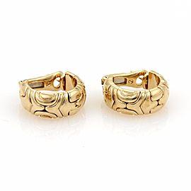 Bulgari Parentesi 18K Yellow Gold Semi Hoop Earrings
