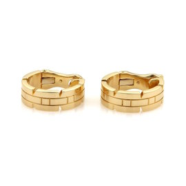 Cartier Tank Francaise 18K Yellow Gold Oval Hoop Earrings