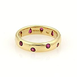 Tiffany & Co. Etoile 18K Yellow Gold with 0.40ct Ruby Band Ring Size 5