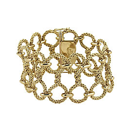 Tiffany & Co. Germany 18K Yellow Gold Twisted Mesh Wire Bracelet