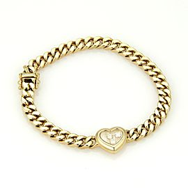 Chopard Happy Diamond 18K Yellow Gold with 0.15ct Diamond One Heart Bracelet