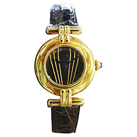 Carteir Must De Cartier Vermeil Vintage 24mm Womens Watch