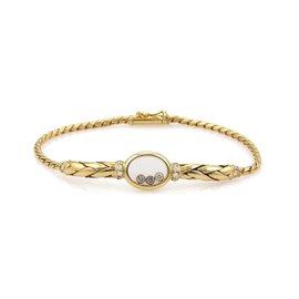 Chopard Happy Diamond 18K Yellow Gold with 0.35ct Diamond Bracelet