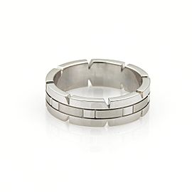 Cartier Tank Francaise 18K White Gold Band Ring Size 8.25