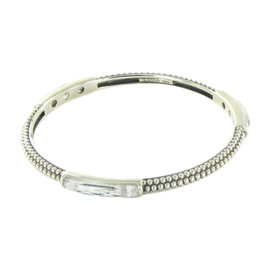 Lagos Maya Caviar 925 Sterling Silver with Howlite Stacking Bangle Bracelet