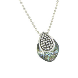 Lagos Caviar 925 Sterling Silver with Abalone Doublet Pendant Necklace