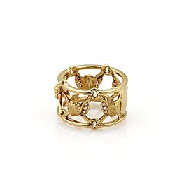 Carrera y Carrera Diamond 18K Yellow Gold Open Cherub Band Ring Seize 7.25