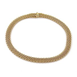 Tiffany & Co. 18K Yellow Gold Wide Mesh Design Collar Necklace