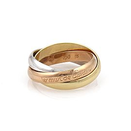 Cartier Ring 18k White Yellow Rose Gold Ring Size 7.25
