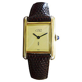 Cartier Must De Cartier Vermeil Vintage 20mm Womens Watch