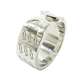 Cartier C2 18K White Gold Ring Size 5.75