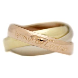 Cartier Trinity 18K Yellow, White and Rose Gold Ring Size 4.75