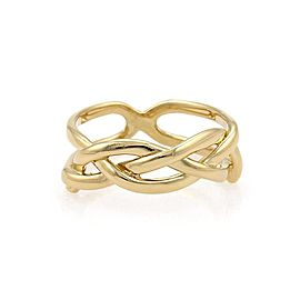 Tiffany & Co. Vintage 18K Yellow Gold Infinity Band Ring Size 4