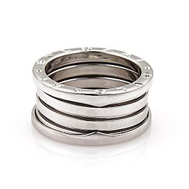 Bulgari B Zero-1 18K White Gold 11mm Band Ring Size 7.75