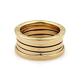 Bulgari B Zero-1 18K Yellow Gold 11mm Band Ring Size 8