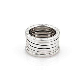 Bulgari B Zero-1 18K White Gold 13mm Band Ring Size 5
